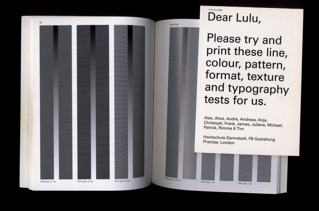 Open spread of the book: Dear Lulu and it's cover