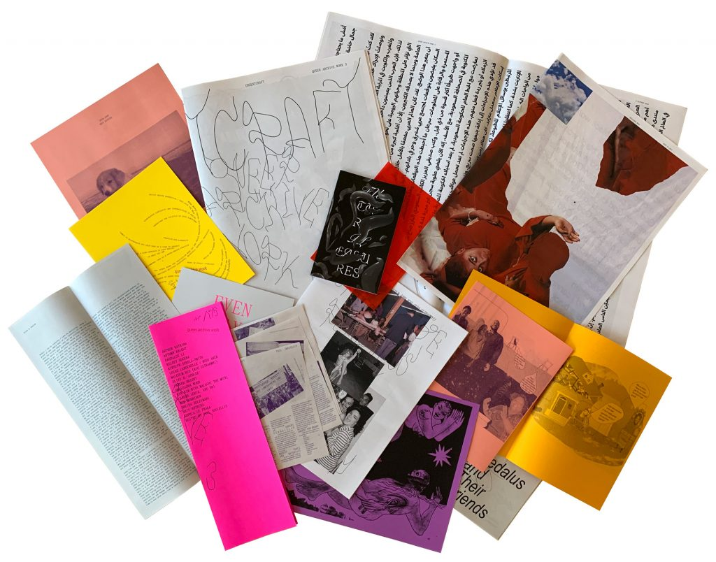 A selection of the queer archive work