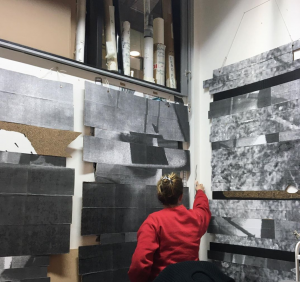 Izzy in her studio at Royal College of Art, 2020.