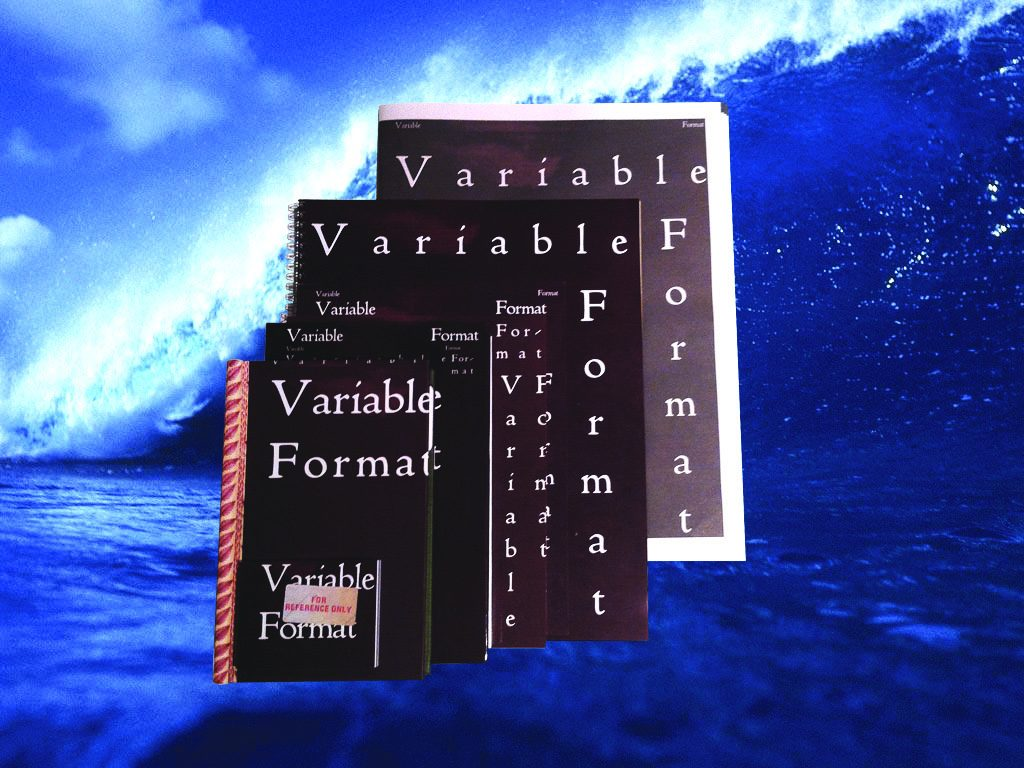 Image of books: Variable Format