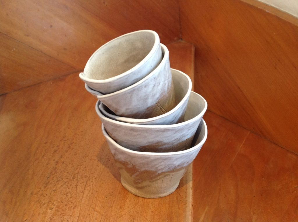 Untitled stack of ceramic cups, 2019