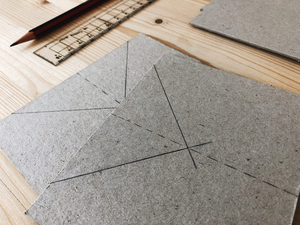 Image showing cutting instructions on grey board