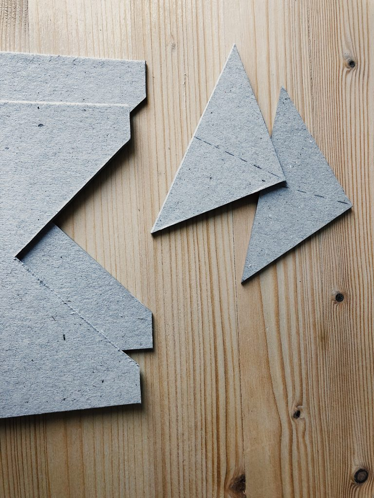 Image of triangles cut out