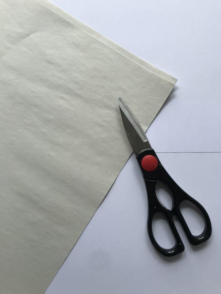 Newsprint and scissors