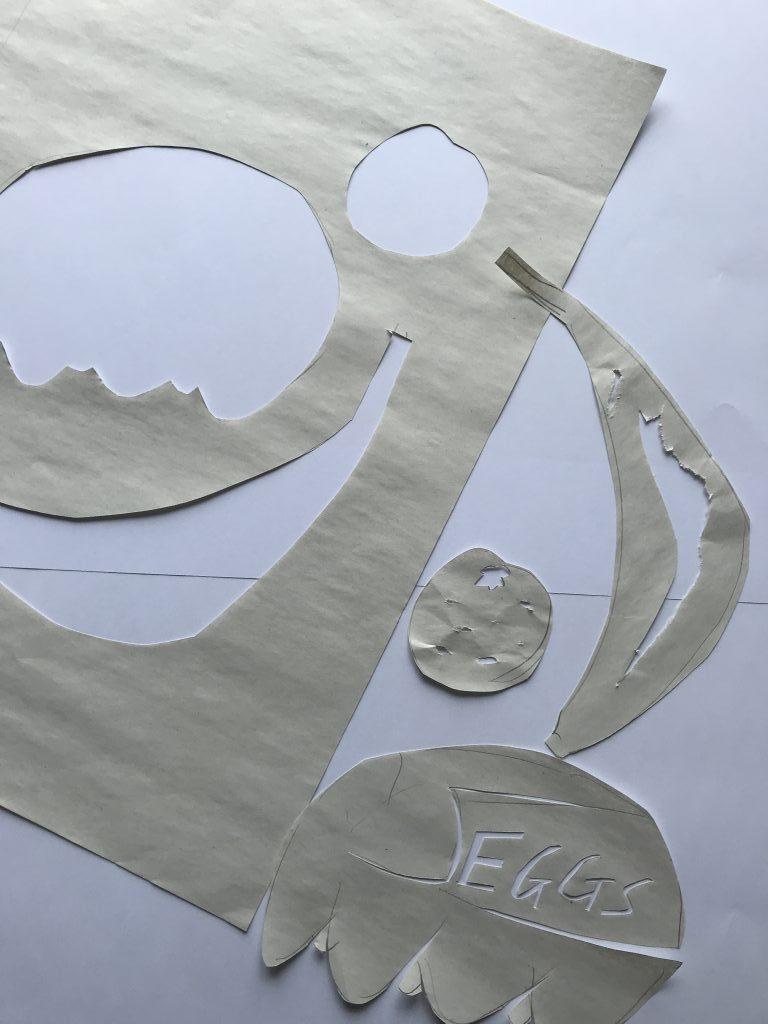 newsprint paper stencils