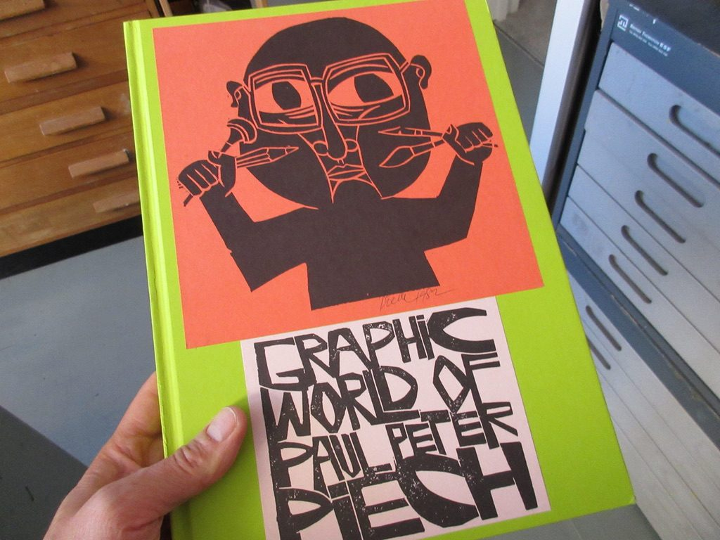 The book cover of The Graphic World of Paul Peter Piech by Four Corners Books.