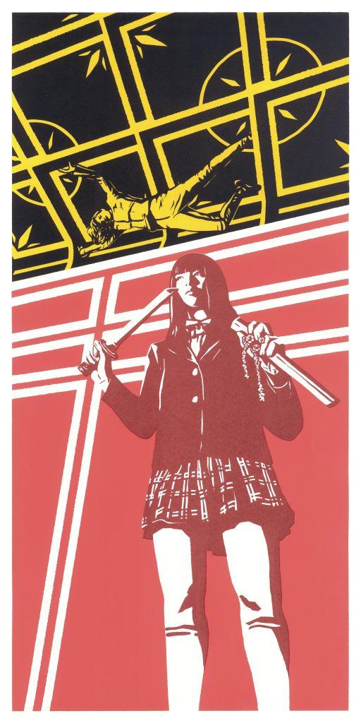 Graphic image of a film poster design for Kill Bill