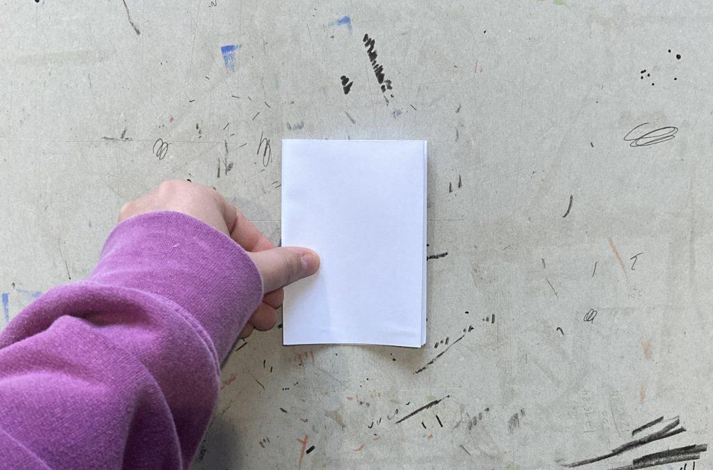 The folded zine.