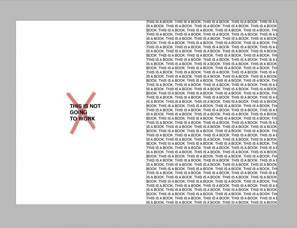 Screenshot of InDesign showing incorrect use of margin
