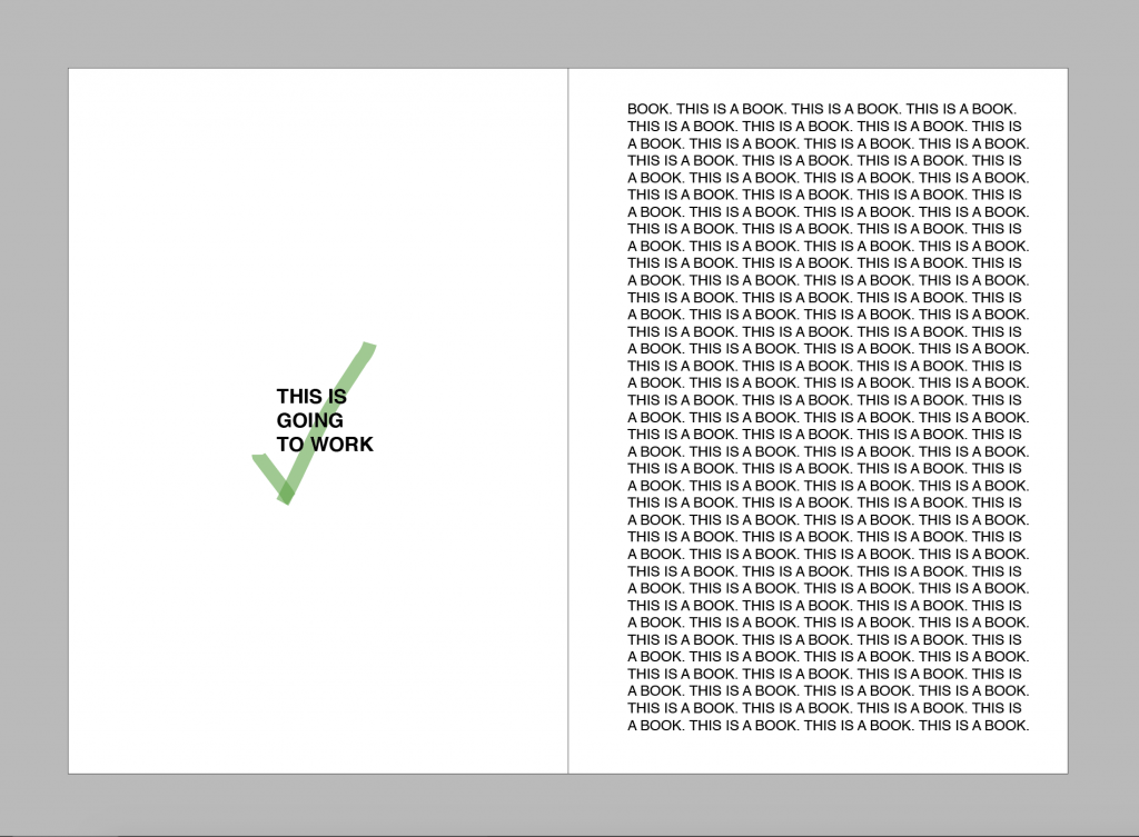 Screenshot of InDesign showing correct use of margins, with 20mm on the binding edge and 15mm on all other edges