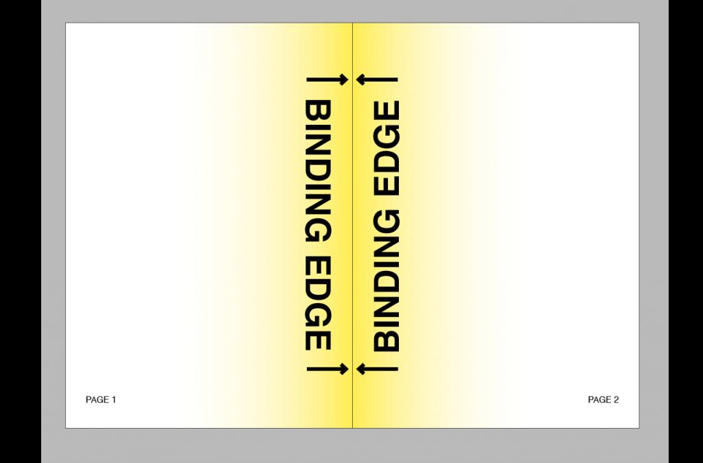 Screenshot of InDesign demonstrating the binding edge